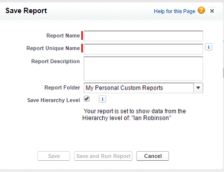 Save report
